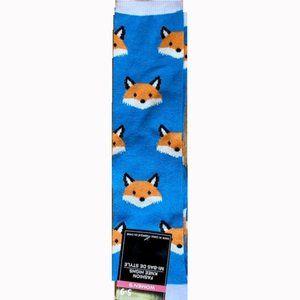*3/$15* Fun Turquoise Fox Knee High Socks
